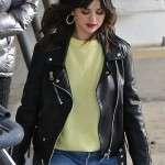 Selena Gomez Biker Jacket