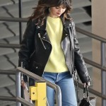 Selena Gomez Biker Leather Jacket