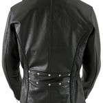 Braided Classic Womens Black Jacket