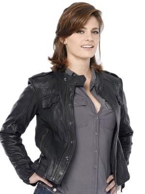 Stana Katic Castle Black Jacket