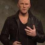 Chris Pratt Jason Statham Ad Black Leather Jacket