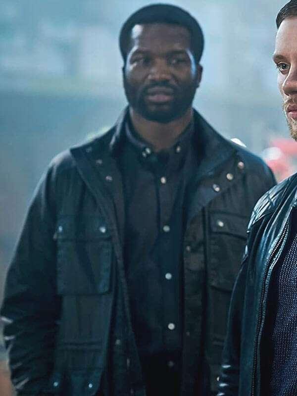 Gangs of London Sope Dirisu Black Leather Jacket