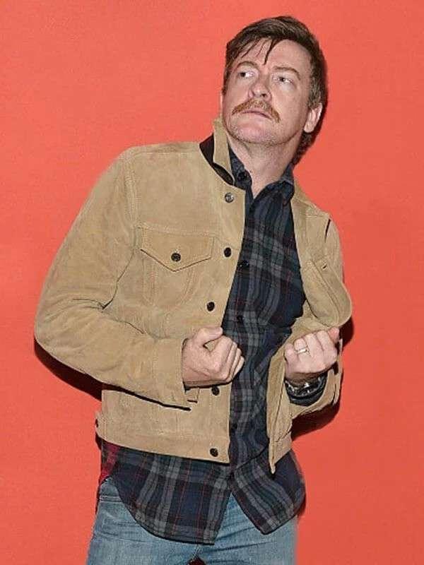 Hunt for the Wilderpeople Rhys Darby Brown Suede Jacket