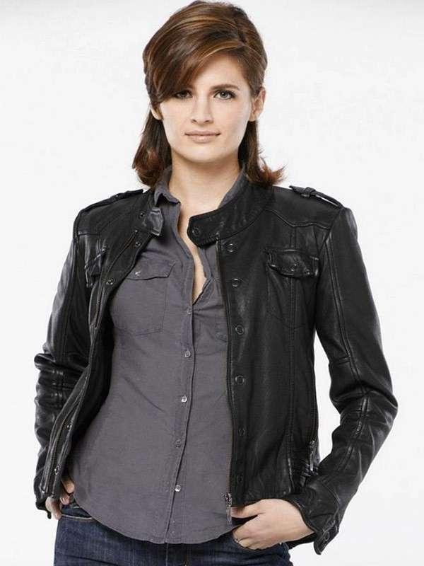 Kate Beckett Castle Black Leather Jacket