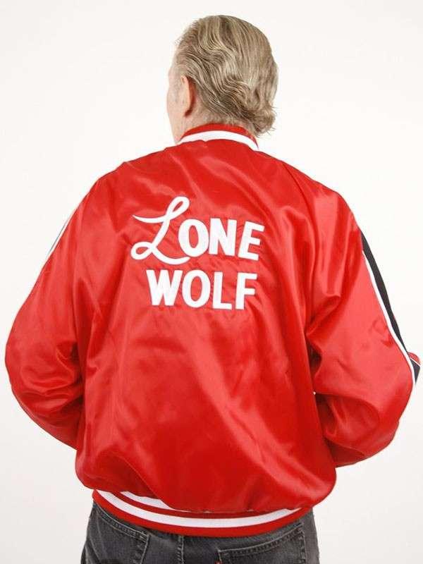 Lone Wolf Satin Bomber Jacket