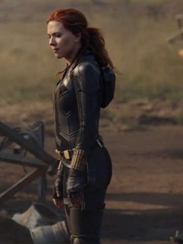Scarlett Johansson Black Widow Leather Jacket