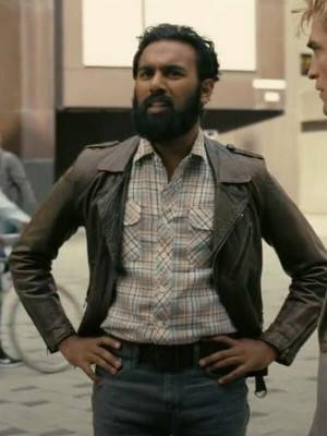 Michelle Tenet Leather Brown Jacket