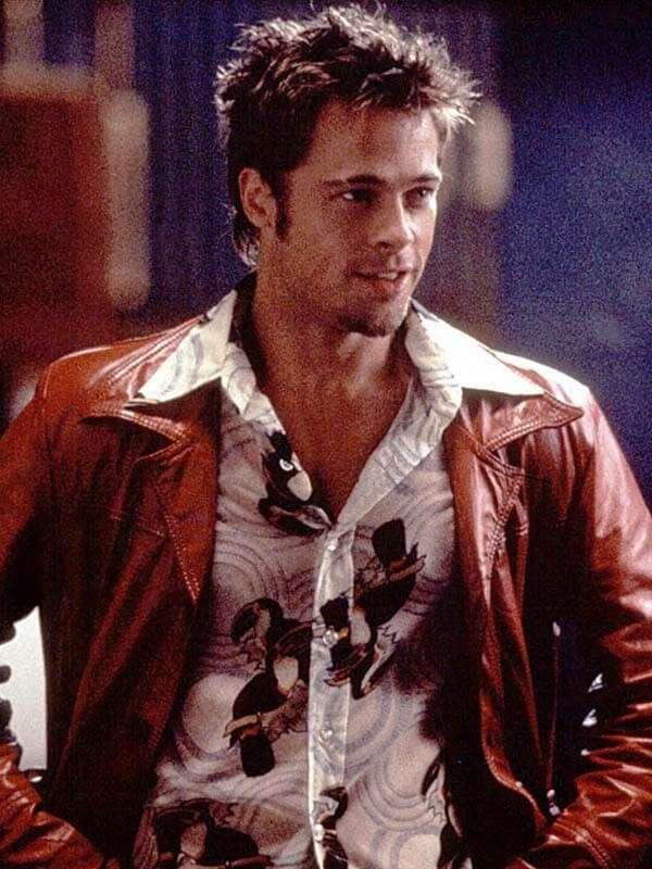 Tyler Durden Fight Club Leather Jacket
