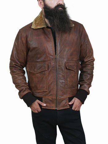FAR CRY 5 AVIATOR BROWN LEATHER JACKET