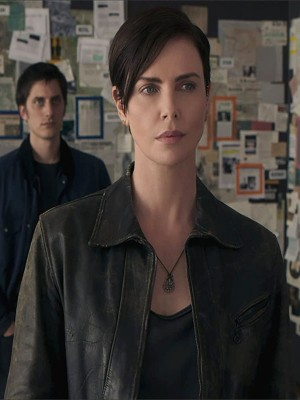 The Old Guard Charlize Theron Brown Leather Jacket