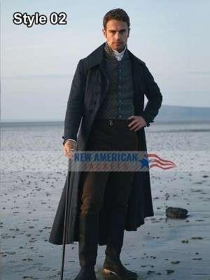 Sanditon Theo James Black Coat