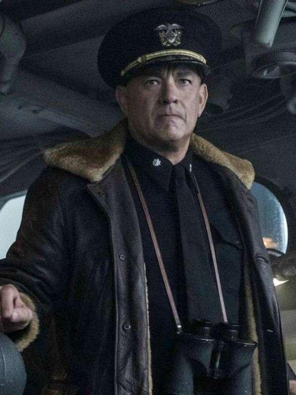Tom Hanks Greyhound Leather Jacket