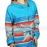 Yellowstone Beth Dutton Blue Wool Coat