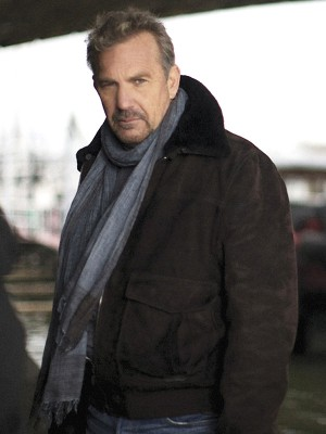 Kevin Costner 3 Days to kill Brown Leather Jacket