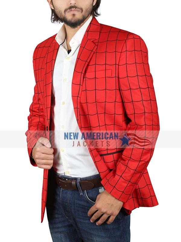 Tom Holland Red Spiderman Blazer Coat