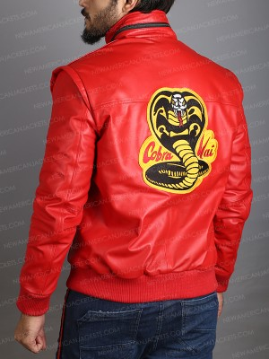 Johnny Lawrence Karate Kid Cobra Kai Red Jacket