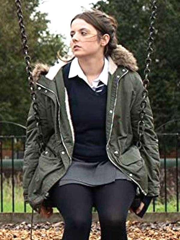 Gabrielle Creevy In My Skin Bethan Gwyndaf Green Hooded Jacket