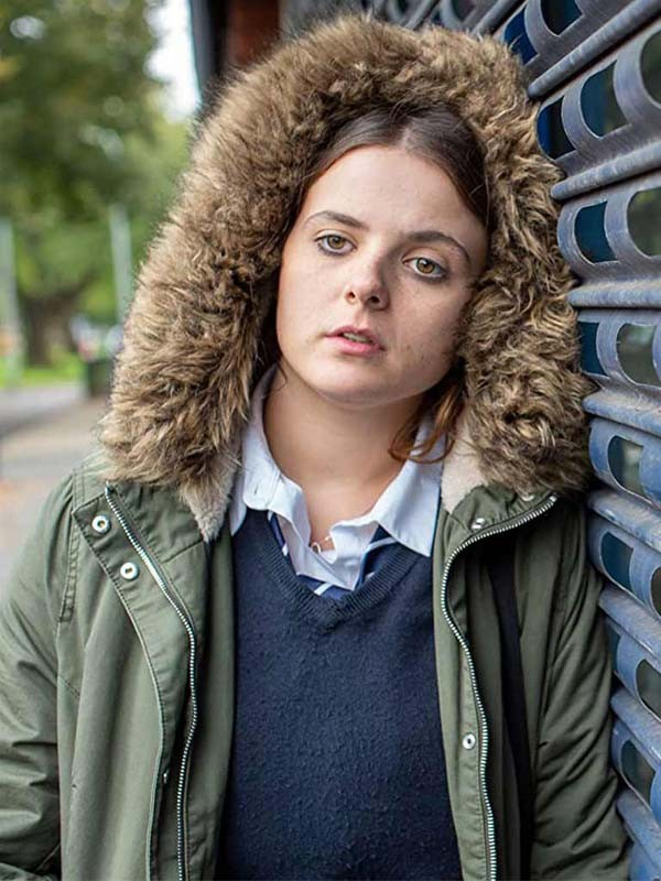 Gabrielle Creevy In My Skin Hooded Green Jacket