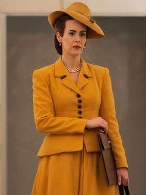 Sarah Paulson Ratched Yellow Coat