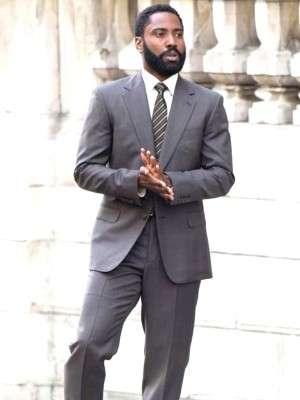 Tenet John David Washington Grey Suit