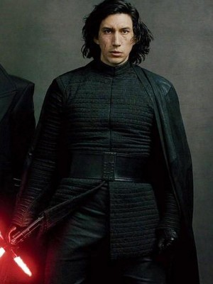 Adam Driver Star Wars The Last Jedi Kylo Ren Black Jacket