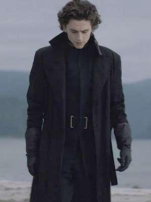 Timothee Chalamet Dune Paul Atreides Black Wool Coat