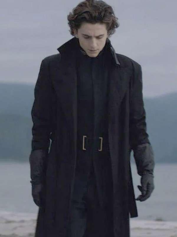 Dune Paul Atreides Black Trench Coat