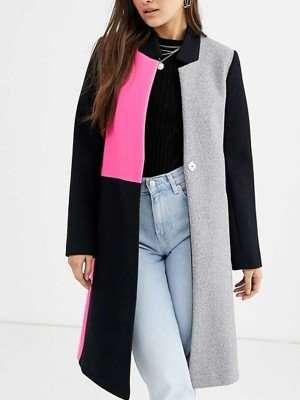 Emily Cooper Emily In Paris Color Block Wool Coat