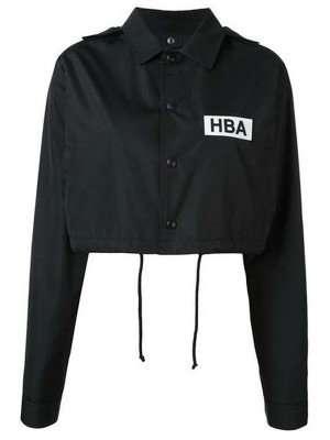 Emily In Paris HBA Logo Cropped Black Jacket