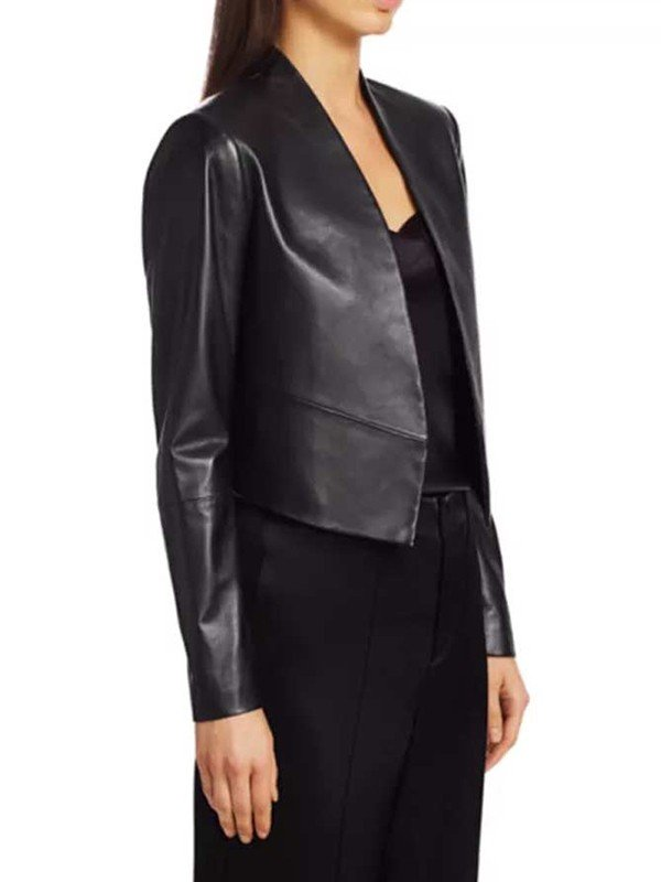 Emily In Paris Emily Cooper Leather Black Jacket