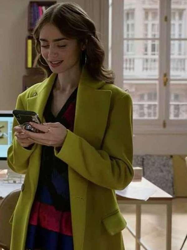 Emily In Paris Emily Cooper Lime Coat