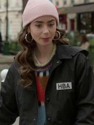 Emily Cooper Emily In Paris HBA Logo Cropped Jacket