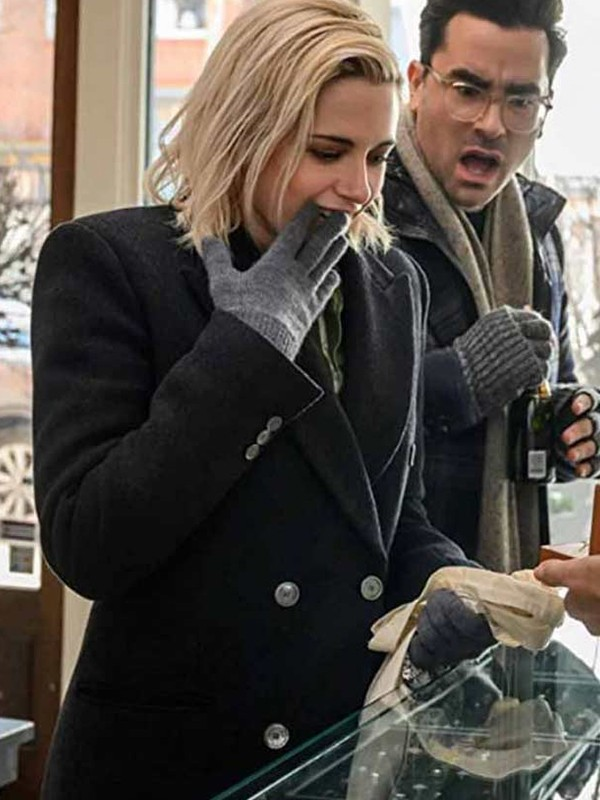 Happiest Season Kristen Stewart Black Coat
