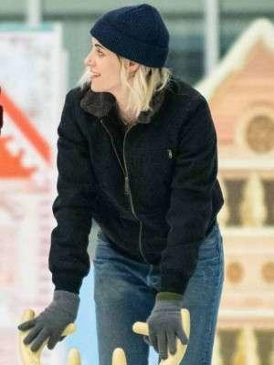Happiest Season Kristen Stewart Black Jacket