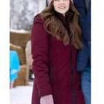 Jen Lilley Winter Love Story Maroon Coat
