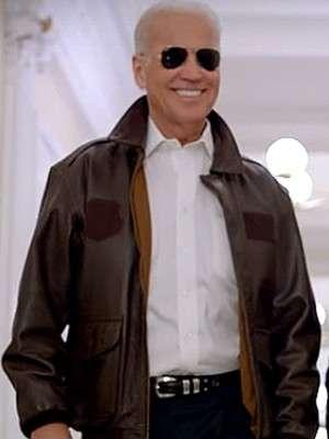 Joe Biden Brown Aviator Jacket