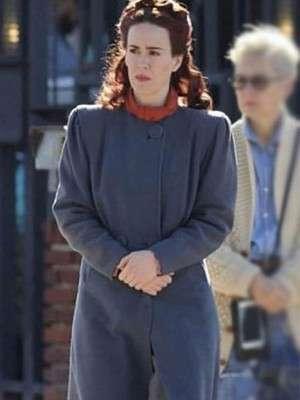 Sarah Paulson Nurse Mildred Ratched Blue Coat