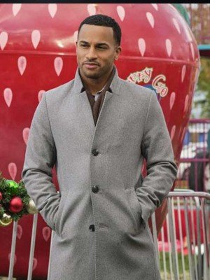 Christmas Comes Twice Michael Xavier Grey Wool Coat