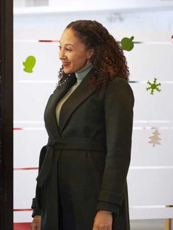 Christmas Comes Twice Tamera Mowry Housley Trench Coat