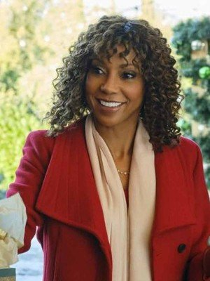 Christmas in Evergreen: Bells Are Ringing Holly Robinson Peete Wool Coat