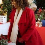 Christmas in Evergreen Bells Are Ringing Holly Robinson Peete Red Coat