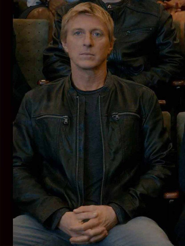 Cobra Kai S03 William Zabka Leather Jacket