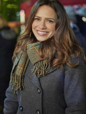 Five Star Christmas Bethany Joy Lenz Wool Grey Peacoat