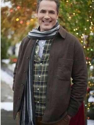 Five Star Christmas Victor Webster Brown Wool Jacket