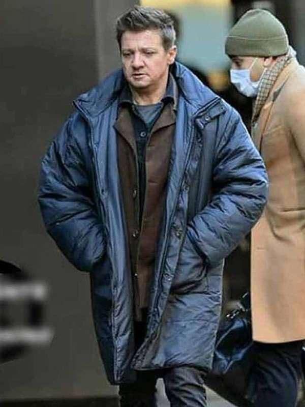 Hawkeye 2021 Jeremy Renner Blue Coat