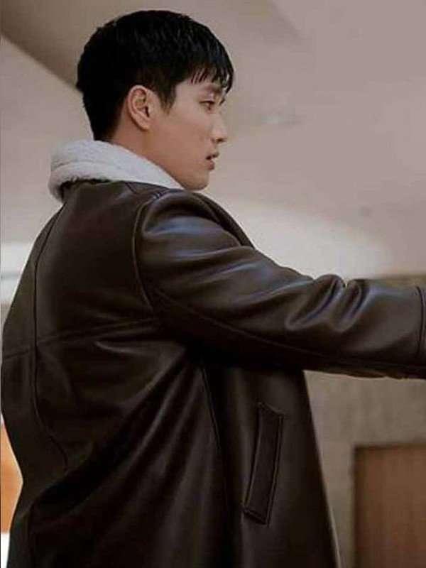 Itaewon Class Ahn Bo Hyun Fur Collar Coat
