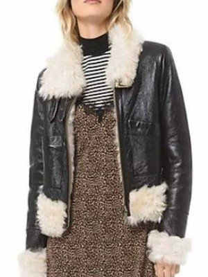 Itaewon Class Kim Da-Mi Leather Shearling Jacket
