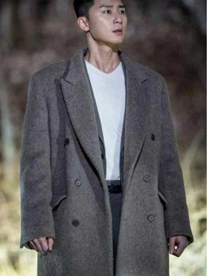Itaewon Class Park Seo-Joon Grey Wool Coat