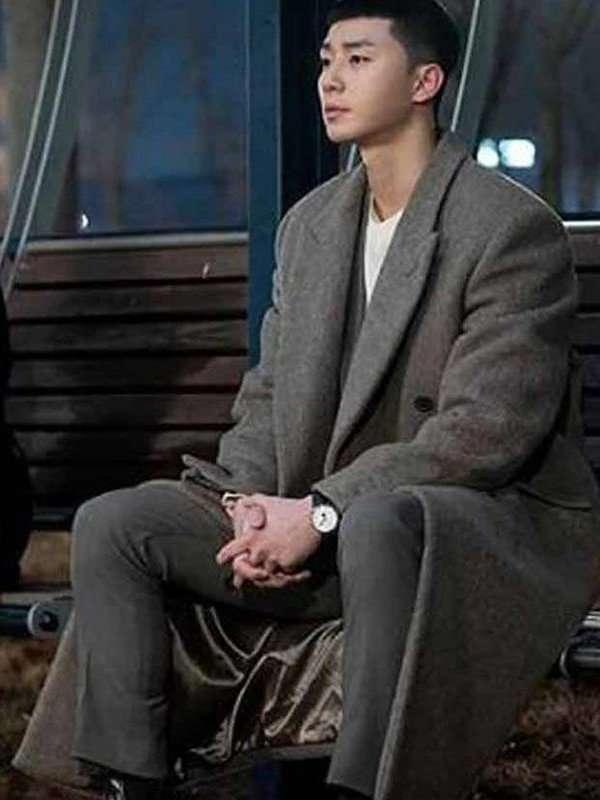 Itaewon Class Park Seo Joon Grey Coat