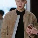 Itaewon Class Park Seo Joon Suede Brown Jacket